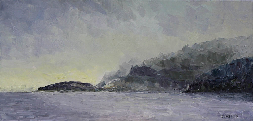 Fog inside passage 12 x 24 inch oil on canvas by Terrill Welch 2013_02_03 064